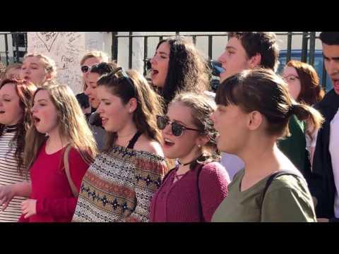 SVE sings The Beatles outside Abbey Road Studios