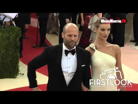 Jason Statham And Rosie Huntington Whiteley At Manus X Machina -  The 2016 Met Gala