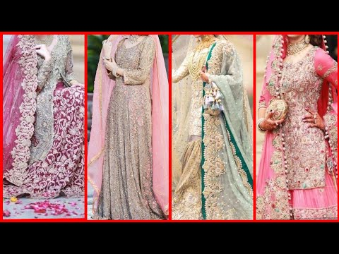 Beautiful fancy bridal wedding reception dress designs
