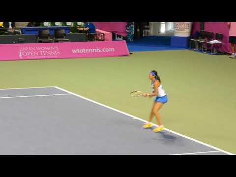 加藤未唯 ジャパンウィーメンズオープンテニス2017 2017/9/16 準決勝 VS フェット⑦