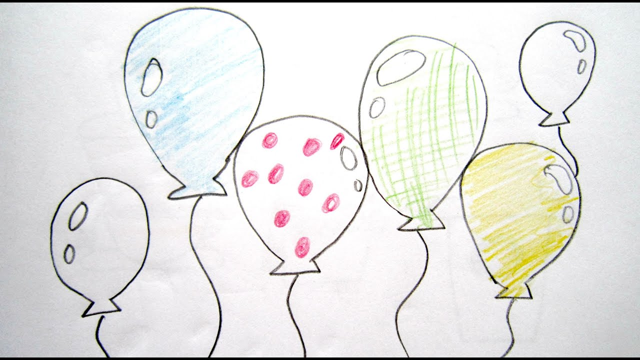 Uncategorized Draw A Balloon how to draw cartoon balloons easy drawing tutorial for balloons