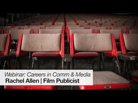 """Careers In Communication And Media - Film Publicist Rachel Allen"""