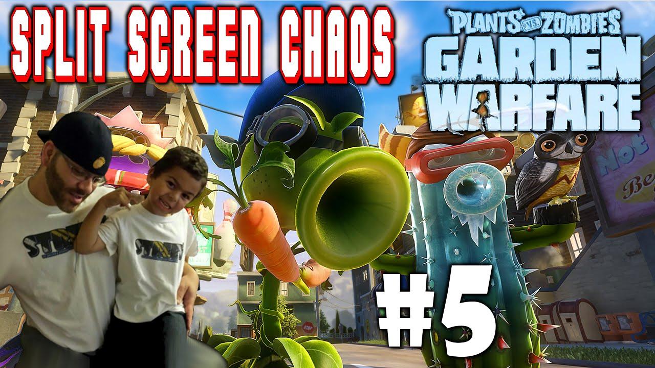 Plants Vs Zombies Garden Warfare Split Screen Chaos 5 Ps4 Street N Son Vs Zombie Scum