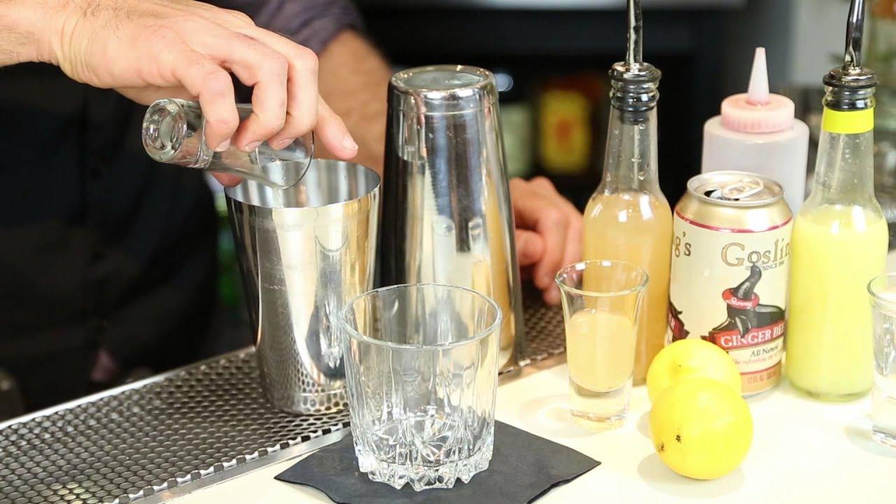 A Cocktail With Ginger Beer Vodka Grenadine Drink Up Youtube