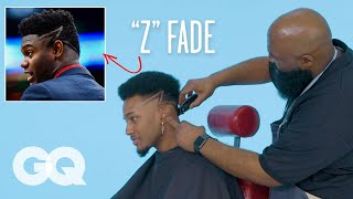 Zion Williamson's Z Fade Haircut Recreated by a Master Barber | GQ