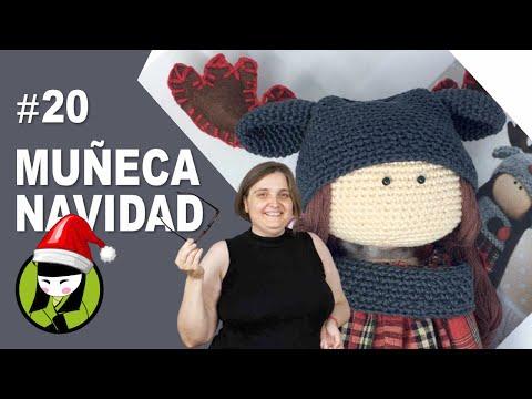 Chalina de la muñeca navideña tejida a crochet 20 amigurumis de navidad