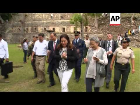 UN Secretary General visits archaeological site with Honduran president