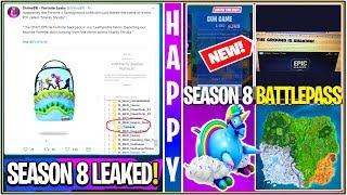 *NEW* Fortnite: SEASON 8 BIG LEAKS! Sharky Shrubs POI, Battlepass Items, Theme, & GUN Game LTM!