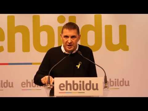 Arnaldo Otegi valora el resultado de las elecciones de Catalunya