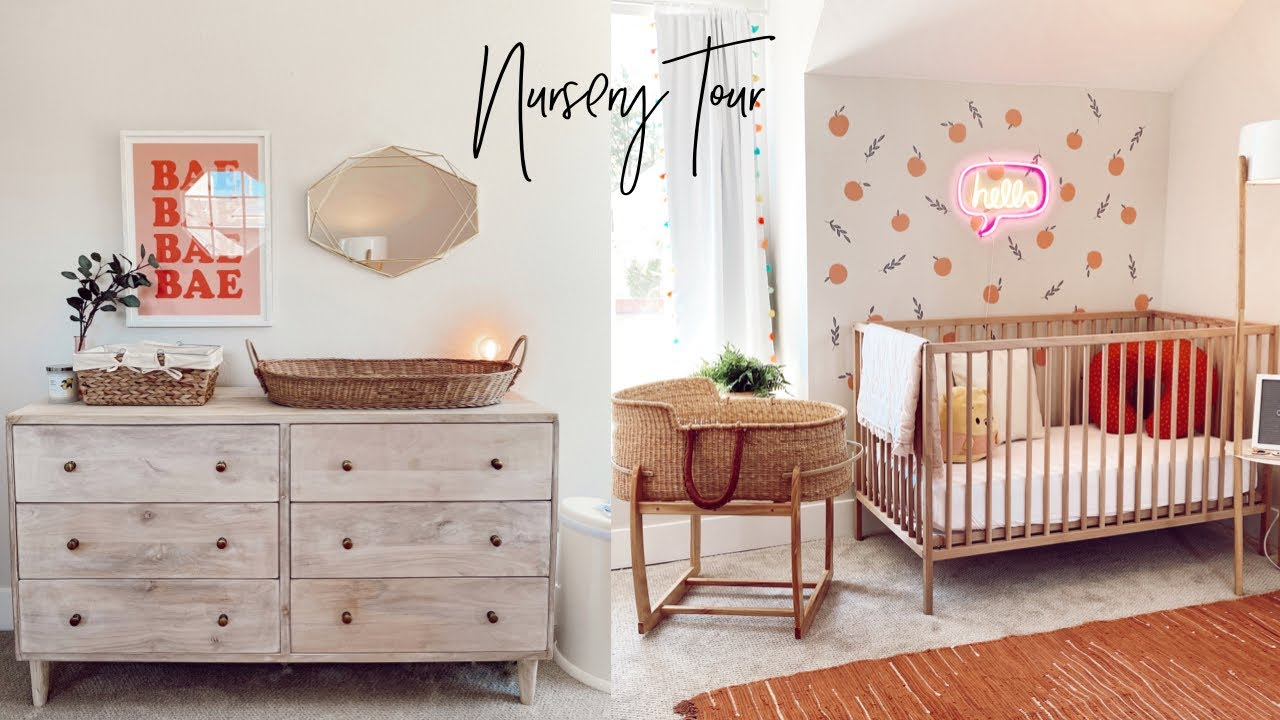 BABY GIRL NURSERY TOUR 👼🏼🤍 | BABY ROOM TRANSFORMATION - YouTube