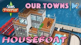 Sims FreePlay Family Houseboat Original House Design YouTube