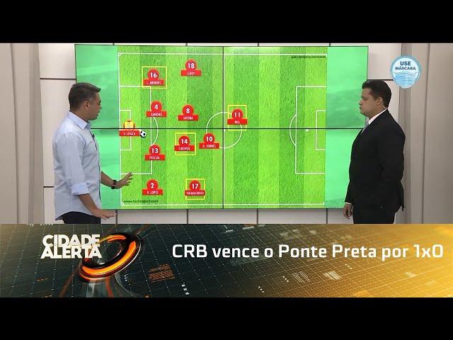 Futebol: CRB vence o Ponte Preta por 1x0