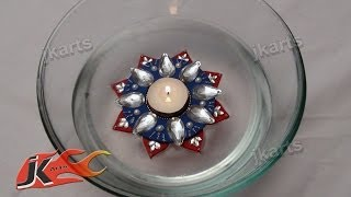 Repeat youtube video DIY Floating Kundan Diya (tealight) Making -  JK Arts 095