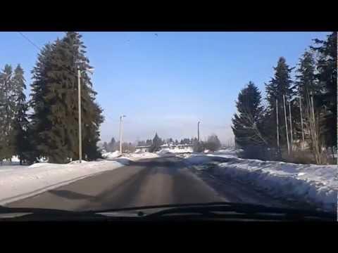 Saue City,Estonia.on the nice cold morning