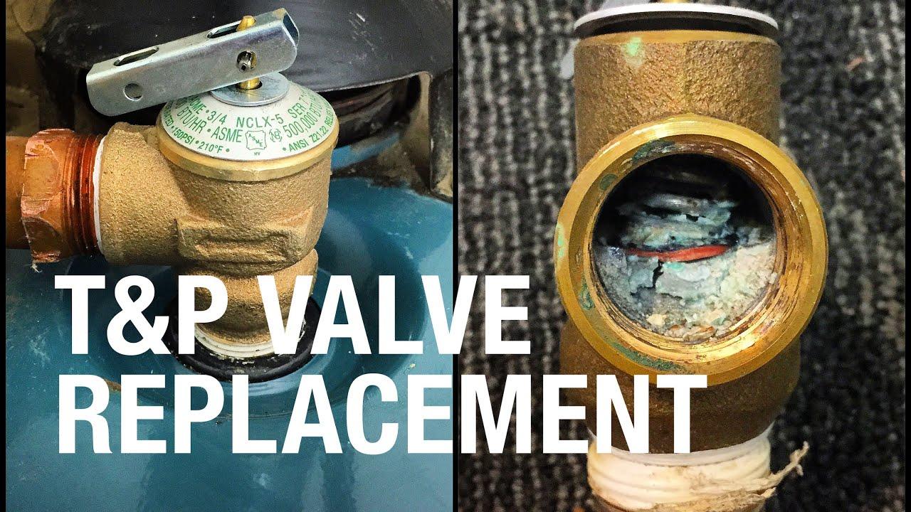 How To Fix Replace Water Heater Broken T Amp P Valve Watts
