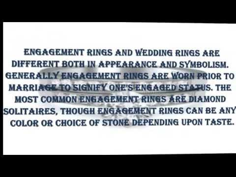 what is the difference between engagement rings and wedding rings - Difference Between Engagement Ring And Wedding Ring