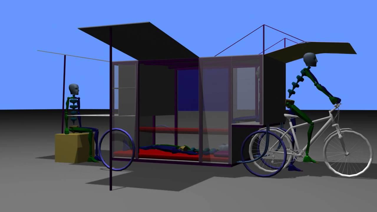 Bike Campers Versatile Bicycle Camper Design Youtube