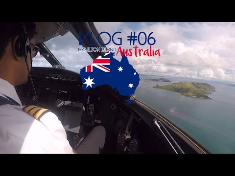 Landing in Hamilton Island (Queensland) Australia - Global Express Cockpit