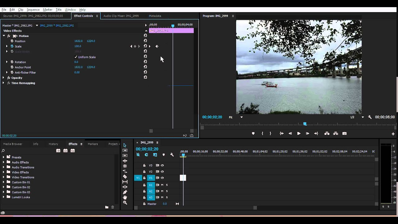 How To Zoom Into Images  Video In Adobe Premiere Pro Cs6    Cc