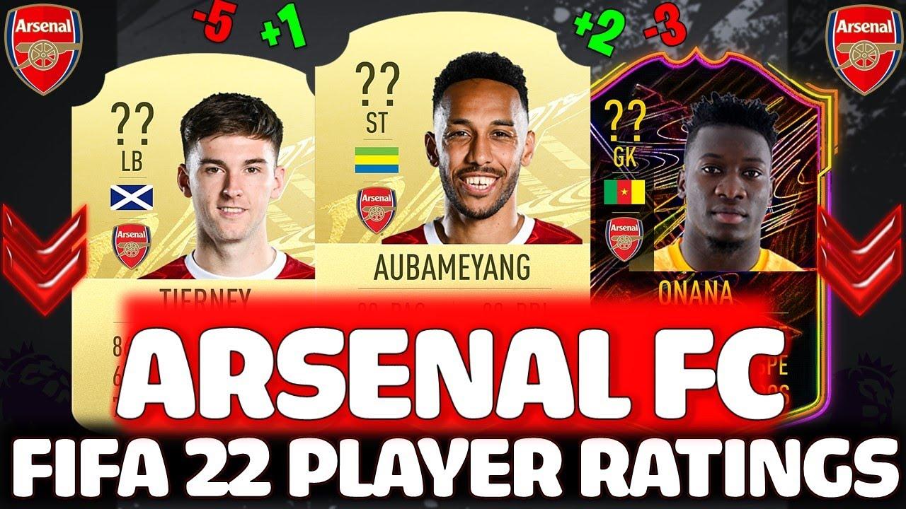FIFA 22 | ARSENAL PLAYER RATINGS PREDICTIONS!! FT. AUBAMEYANG, TIERNEY, ONANA ETC... (FIFA 22)