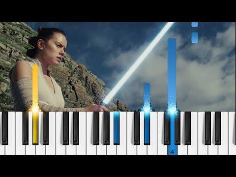 Star Wars: The Last Jedi Trailer - EASY Piano Tutorial
