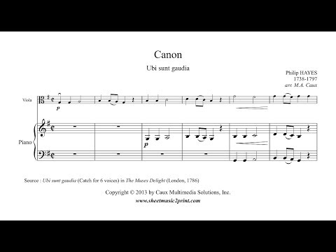 Hayes : Canon - Viola