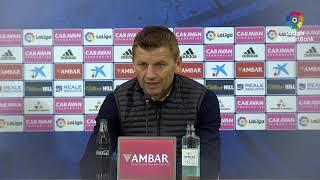 Rueda de prensa de Djukic tras el Real Zaragoza (2-0) Real Sporting