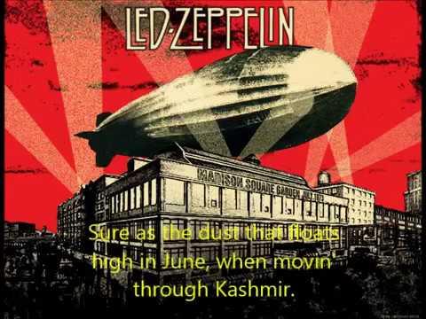 Led Zeppelin Kashmir Lyrics Youtube