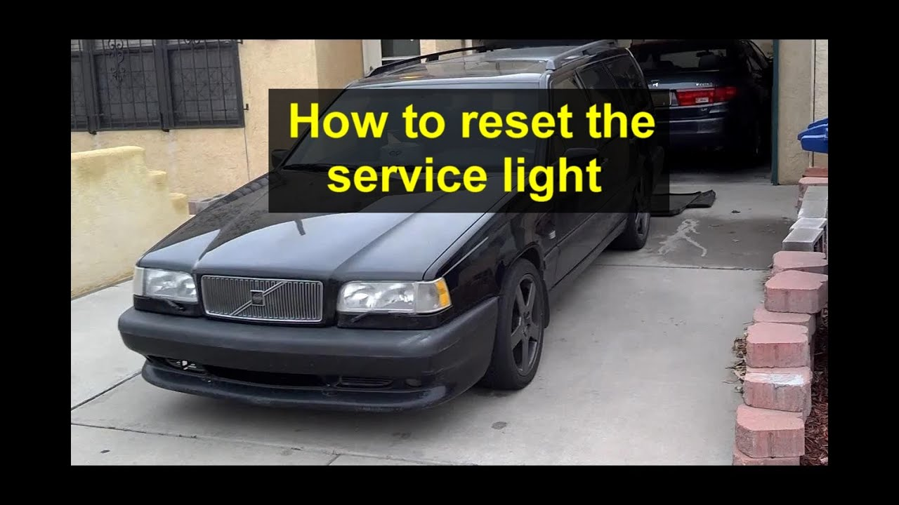 How to reset the service light on the Volvo 850, 1993, 1994 and 1995 year models. - Auto Care ...