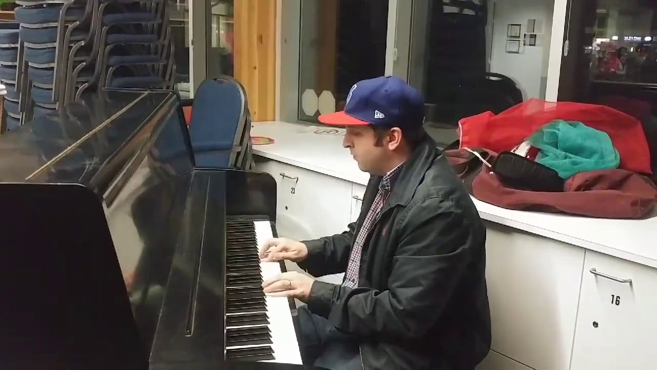 playing the piano live