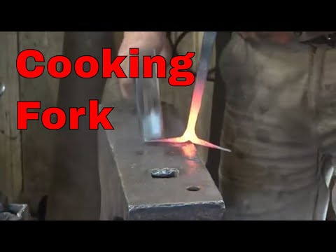Forged cooking fork - basic blacksmithing project