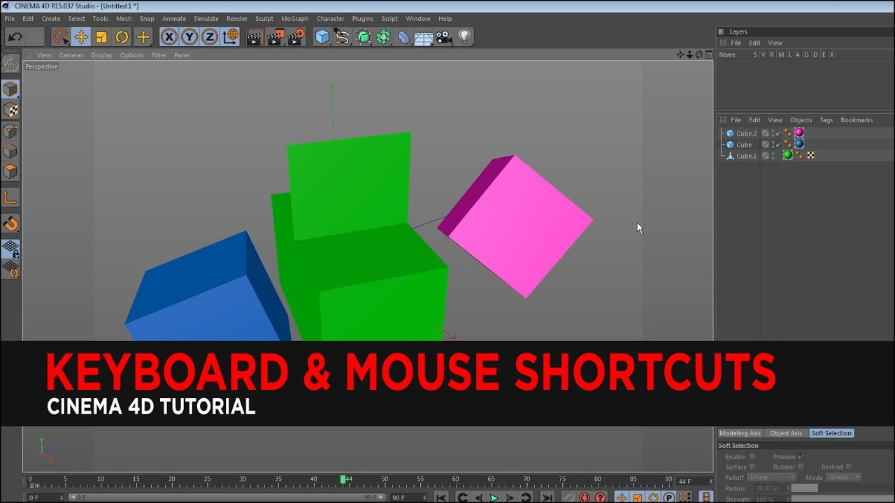 Tutorial : Keyboard & Mouse Shortcuts in Cinema 4D
