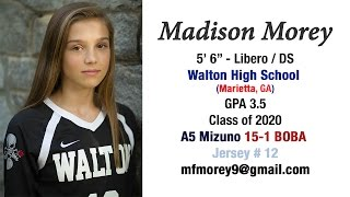 Madison Morey  2016-17 HS & Club Volleyball Highlights