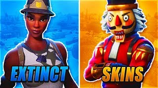 RAREST SKINS IN FORTNITE !!!!! EXTINCT SKINS !!!!!! ( FORTNITE: BATTLE ROYALE )