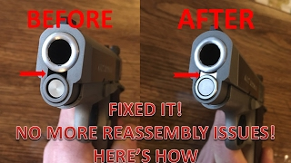 Colt Defender 1911 - SLIDE HARD TO REMOVE/REASSEMBLE? This will fix it!