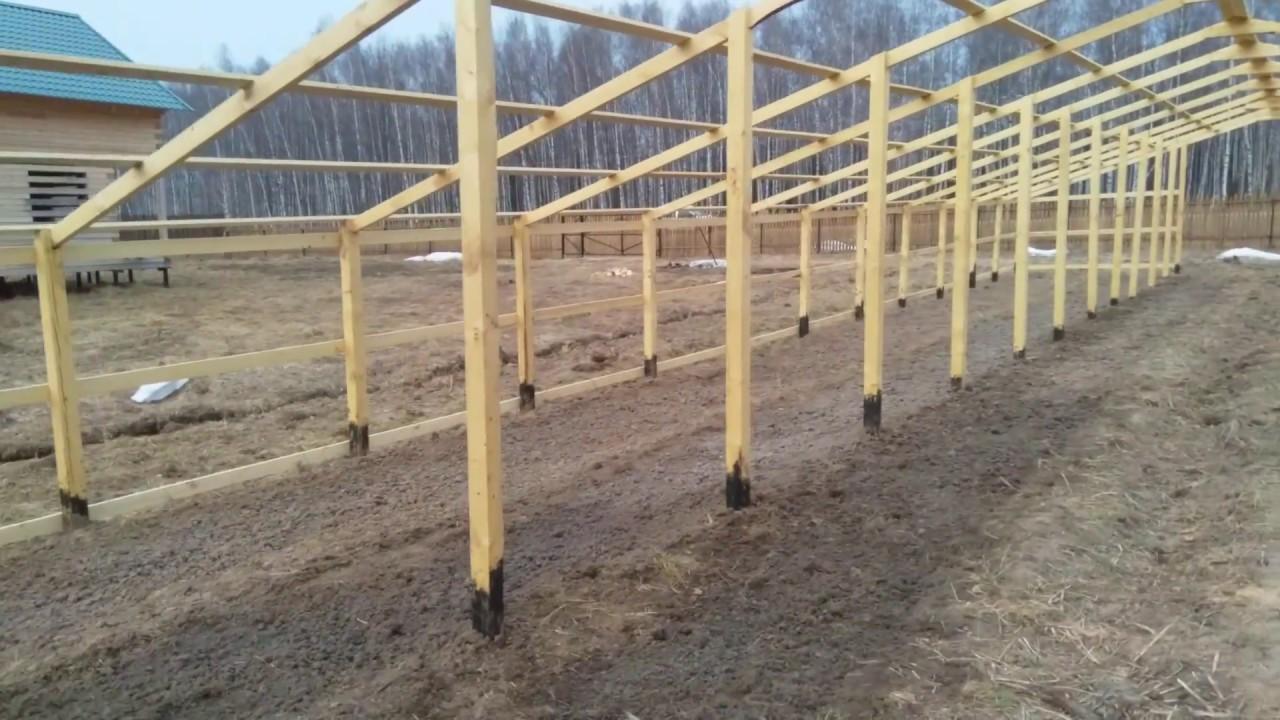 проект деревянной теплицы