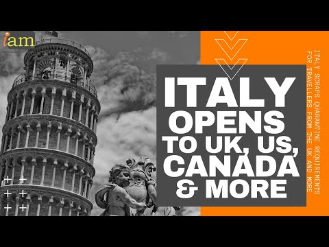 Italy Opens to Travellers From Today: UK, US, Canada, Japan & More Welcome