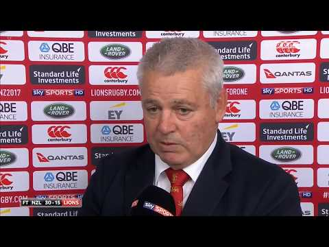 Warren Gatland Post Match Interview vs All Blacks 2017 (HD)