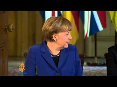Merkel addresses both houses of Britain's parliament