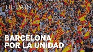 Masiva manifestación en Barcelona a favor de la Constitución y la unidad de España | España