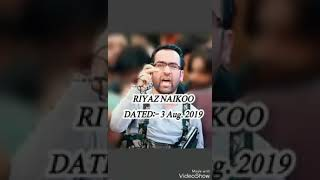 New Audio viral of HIZB Commander Riyaz Naikoo