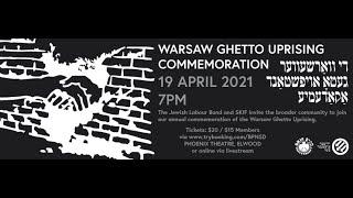 Warsaw Ghetto Uprising Commemoration 2021 // Jewish Labour Bund