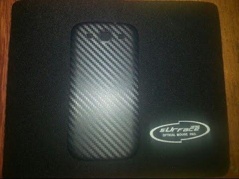 Оклейка пленкой под карбон задней крышки S3 . Carbon 3D