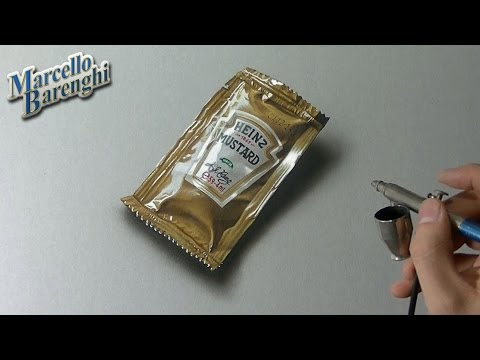 Drawing Time Lapse: a mustard sachet – hyperrealistic art