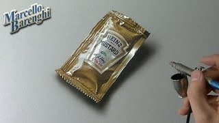 Drawing Time Lapse: a mustard sachet - hyperrealistic art