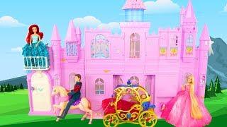 Musical Fantasy Doll Castle for Barbie & Princess Puppe Schloss Château poupée Barbie kastil boneka