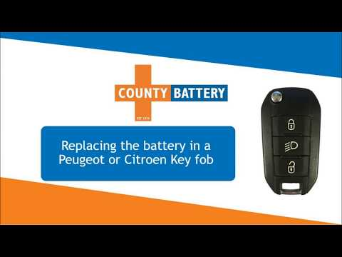 How to replace a battery in a Peugeot 208 Key fob 308 408 Citroen