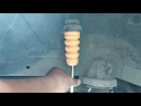 Hyundai Getz 2010 – How to Replace Bumper Rubber of Rear Shock Absorber