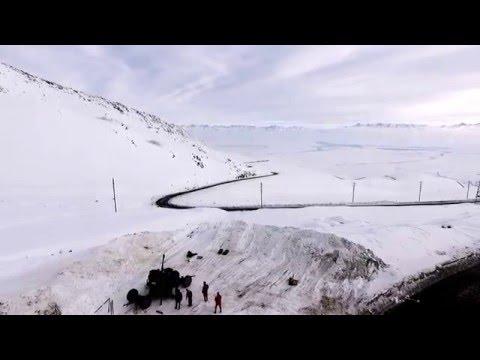 Перевал Тоо-ашуу обстрел склонов. Противолавинная служба МЧС Кыргызстан.