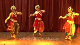 Dancers perform classical Odissi dance in India